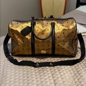 MCM Gold Large Weekend/Traveler Bag